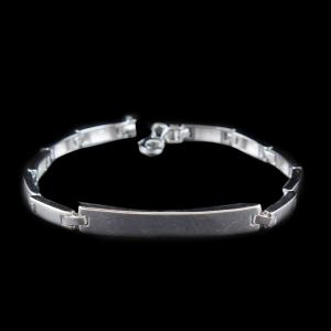 SILVER FANCY MENS BRACELET
