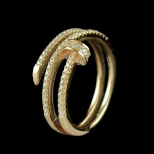 ROSE GOLD PLATED CZ BAND RING