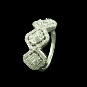 STERLING SILVER CZ CASUAL RING