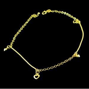 GOLD PLATED HEART DESIGN NECKLACE