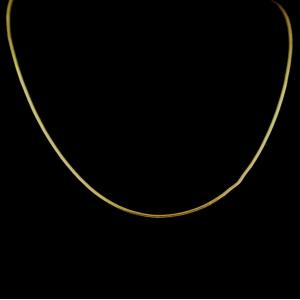 GOLD PLATED PLAIN NECKLACE