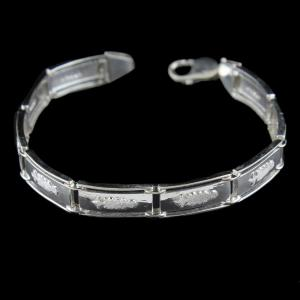 Silver Fancy Bracelet For Mens