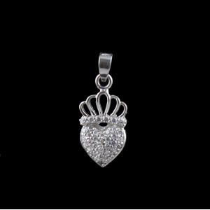 BABY CROWN HEART PENDANT