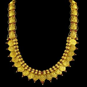 GOLD PLATED LAKSHMI WITH COIN NECKLACE