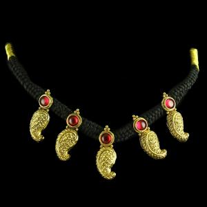 GOLD PLATED MANGO THREAD NECKLACE