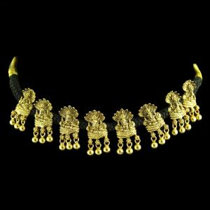 GOLD PLATED GANESHA THREAD NECKLACE