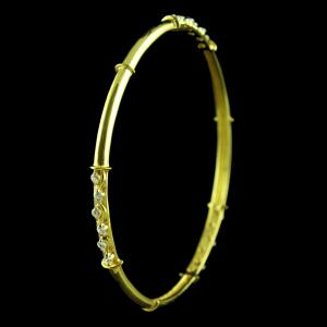 GOLD PLATED SWAROVSKI BANGLE