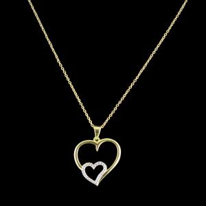 GOLD PLATED HEARTSHAPED NACKLACES