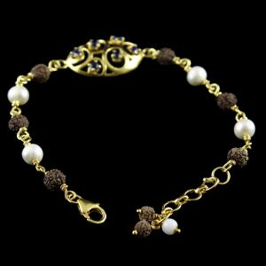 GOLD PLATED PEARL BRACELETS