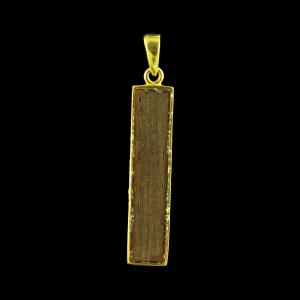 GOLD PLATED ROSEWOOD PENDANTS