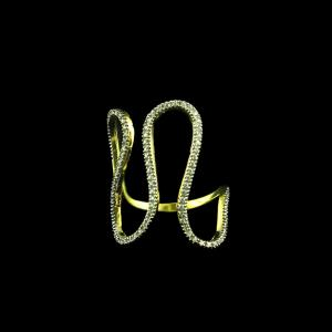 GOLD PLATED CZ RINGS