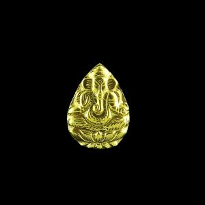 GOLD PLATED GANESHA CASUAL EARRINGS