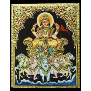 TANJORE PAINTING SURYA BHAGAVAN