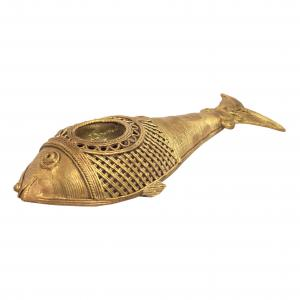 DHOKRA FISH CANDLE STAND