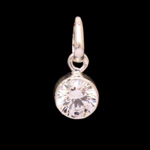 STERLING SILVER CZ STONE PENDANT