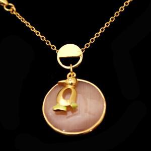 GOLD PLATED MONALISA STONE CHAIN