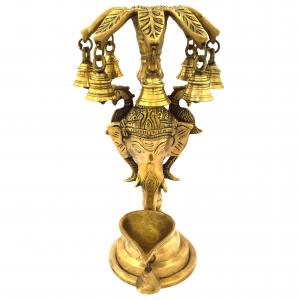 BRASS ELEPHANT CANDLE STAND