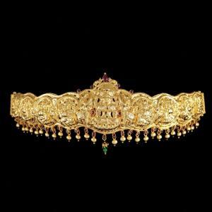 GOLD PLATED SILVER OTTIYANAM