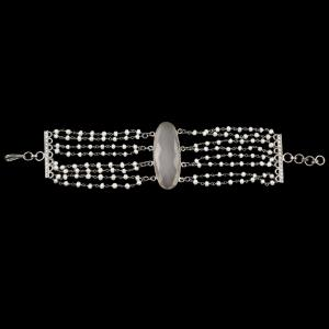 PEARL AND RED ONYX BRACELET