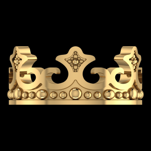 GOLD PLATED CROWN COUPLE MALE RING