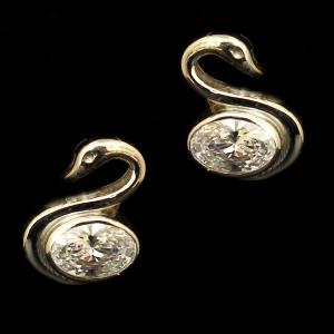 STERLING SILVER SWAROVSKI EARRINGS