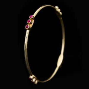 GOLD PLATED CASUAL BANGLES