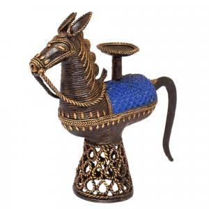 BASTAR JALI HORSE CANDLE STAND