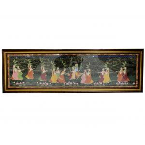 KRISHNA WITH RADHA IN JHOLA CANVAS PAINTINGS