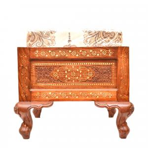 WOODEN SITTING STOOL WITH CUSION