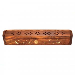 WOODEN INCENSE STICK BOX
