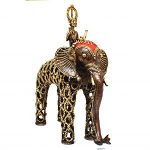 BASTAR ARTS ELEPHANT JALI WITH RIDER