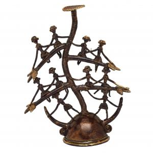 BASTAR ARTS CANDLE STAND TRIBLE PEAOPLE