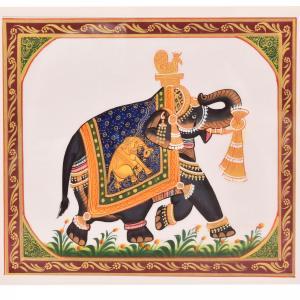 SILK PAINTING PA 173 ELEPHANT