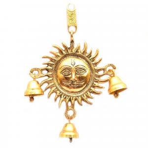 WALL HANGING SUN WITH BELL