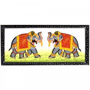 SILK PAINTING PA ELEPHANT