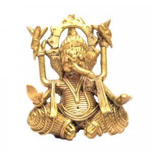 DHOKRA ART SMALL GANESHA SITTING