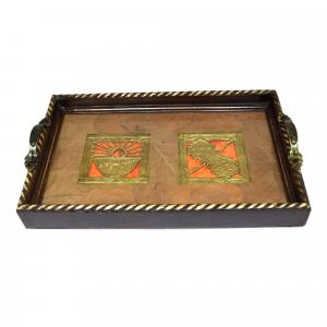 HANDCRAFTED ETHNIC DHOKRA TRAY