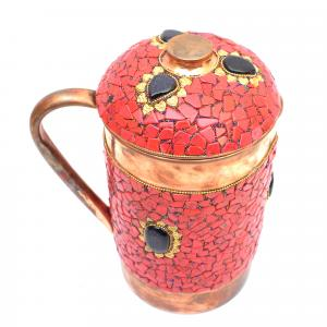 COPPER JUG NEPALI STONE WORK