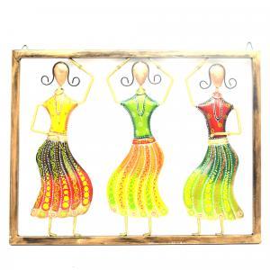 DECORATIVE HANDICRAFTS 3 DANCING LADY IN PANEL