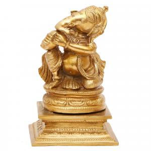 BRONZE SCULPTURE MUSICAL GANESHA