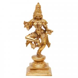 BRONZE SCULPTURE DANCING SARASWATHI