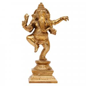 BRONZE SCULPTURE DANCING GANESHA