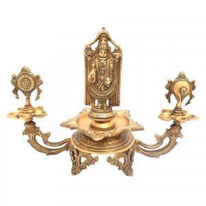 BRASS LAMP WITH BALAJI