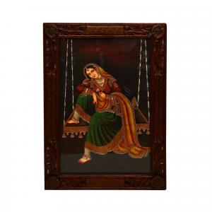HAND MADE PAINTING LADY JHULLA