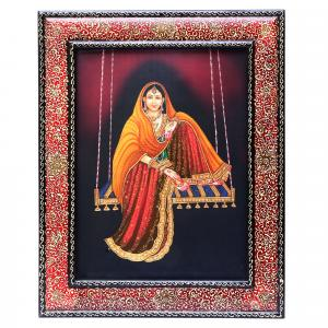 HAND MADE PAINTING JHULLA LADY
