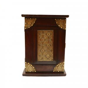 WOODEN BRASS WORK KEY BOX