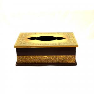 WOODEN PAINTED TISSUE BOX