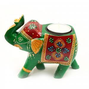 WOODEN ELEPHANT CANDLE