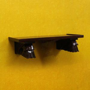 CARVED WOODEN SHELF WALL HANGING 6*24*9.5