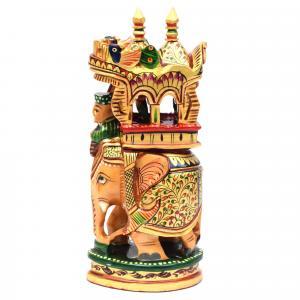 WOODEN AMBARI ELEPHANT